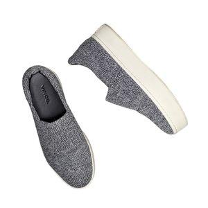 Vince Walsh Gray Knit Platform Slip On Sneakers